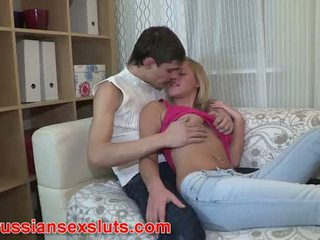 Russian slut Masha gives up her ass for first time