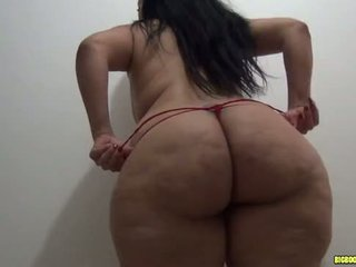 latina with big booty in leggings gets fucked in red thong pt 1