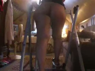 Horny South Indian girl shows off her big ass while working out