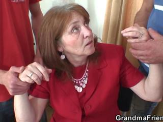 Fucking Busty Granma from Both Sides, HD Porn 22