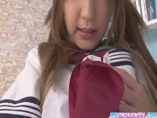 Sana toy fuck her twat then gives a sloppy bl