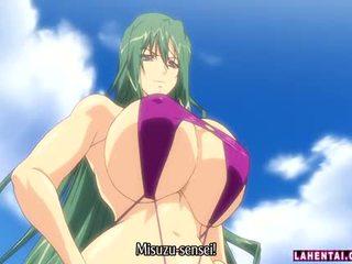 Big titted hentai babe in bikini