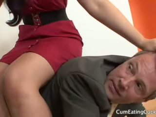 Caroline Pierce and Her Cuck Hubby Share a Facial