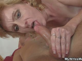 Blonde Mom in Law is Happy Riding My Horny Cock: HD Porn 95