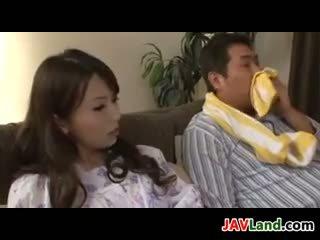جميل اليابانية ربة البيت having جنس