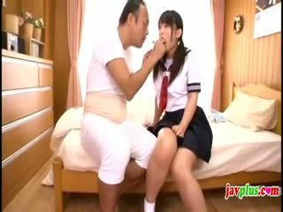 Hapon innocent istudyante seduced by luma pangit tiyuhin