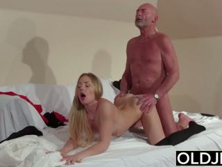 Old Young - Blonde Blowjob and Doggystyle Fuck from.
