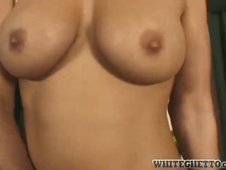 Mellanie Monroe Touches A Joystick Till It Slides In Her Sensuous Vagina