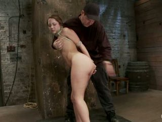 Cute Girl Next Door Bound Face Fucked Made To Cum Over Over Brutal Bondage And Pussy Torture1