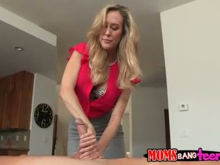 MILF Brandi threesome on massage