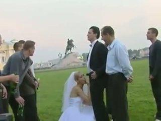 Bride fuck in public after wedding