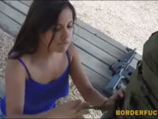 Pretty Hottie Hard Fucking With Border Patrol Officers