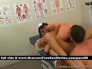 Two horny chicks on a hospital bed
