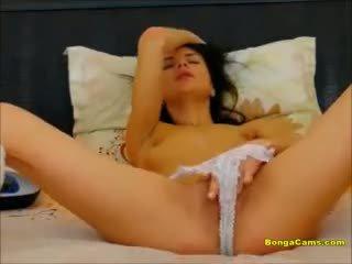 Lovely Teen Masturbating on Her Bed