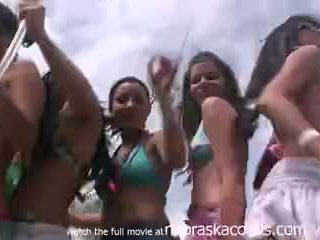 Partying with their titties out on south padre beach