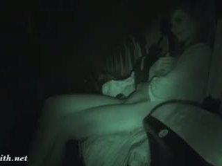 brunette, naked, movie