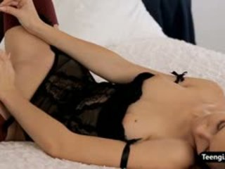 Shaved Pussy Teen Blonde Girl Anjelica Masturbates Her Ass