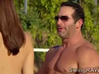 Party Outdoors Turns Out Of Control With Swingers Couples