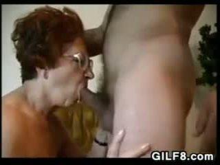 Grandma Wearing Glasses Wants To Suck Cock