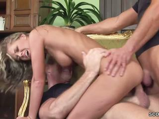 Hot MILF Double Fucked and Facial by Two Stranger: Porn a9
