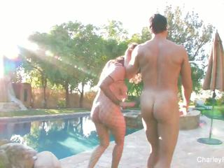 Charley Chase Fucks Nick Manning by the Pool: Free Porn 90