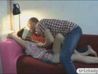 Slim Teen Girlfried Blindfolded And Fucked By Horny Man