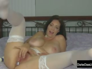 masturbate, big tits, solo, hitachi