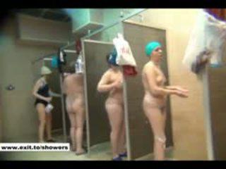 voyeur, douche, publiek, russisch