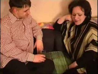 Venäläinen äiti ja poika rasva
