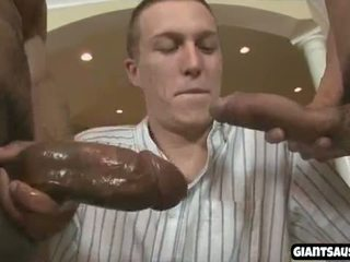 Black guy get giant cock in white ass
