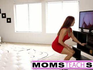 blowjob, big tits, cumshot, hot mom