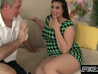 fun brunette video, chubby action, all doggystyle