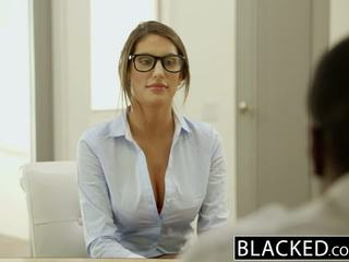 Blacked august ames gets an interracial corrida interna