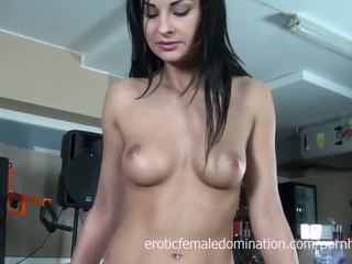 príťažlivé bruneta nový, vy masturbovať, euro menovitý