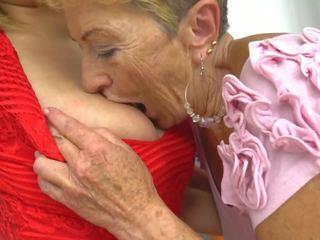 レズビアン, おばあちゃん, hdポルノ