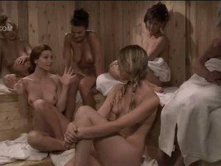 Heather Vandeven nude in the girlonly sauna