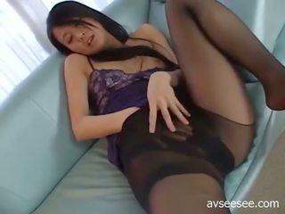 Girl With Stockings Masturbation
