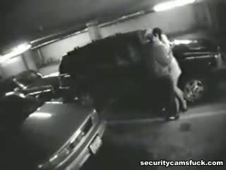 Real Life Parking Lot Big Sex Porno Shot By The Security Webcam