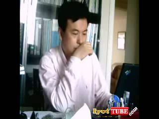 Chinese boss likes secretary fucks