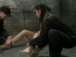 Elbows Bound Spread On The Floor Made To Cum Over And Over Br Crotch Rope Double Bind Ouchy