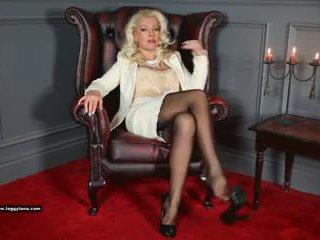 Posh Cougar Leggy Lana Fingers Horny Wet Pussy and Fucks