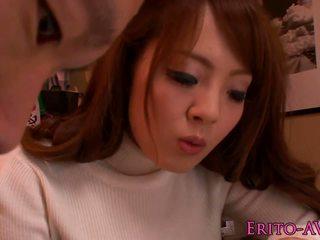 Busty asian AV star Hitomi Tanaka tit fucking