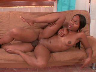 Black Beauty Lady Charm Enjoys a Hard Black Stick: Porn 91