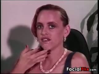 Chick With Huge Breasts Gets A Facial