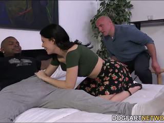 Cuckold watches Ava Dalush takes a black cock