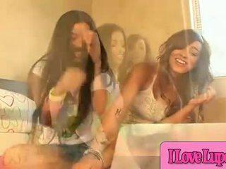 Lupe & Melanie Rios Threesome