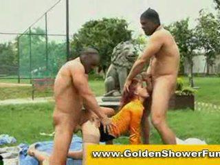Golden showers pissing