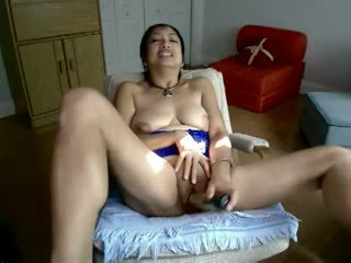 Asia dewasa seksi masturbation di webcam