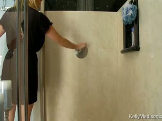 Busty Kelly Madison Having Hot Sudsy Sex In The Shower