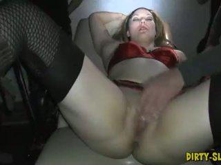 Hot amateur slut Nicole gangbanged by plenty of men